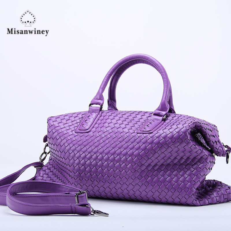 a4fdb69094 Fashion Luxury premium faux leather WOVEN CABAT Tote Bag High Quality Handbags  Candy Color Women Shoulder bags Large Bag Purse-in Shoulder Bags from  Luggage ...