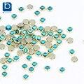 Azul 3D Uñas Rhinestones para Uñas 100 unids/lote Glitter Crystal Decoración de Diseño para la Decoración de Uñas Piedras PJ332