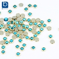 Cor azul 3D Unhas Strass para Unhas 100 pçs/lote Glitter Decorações de Design para Decoração de Unhas de Cristal Pedras PJ332