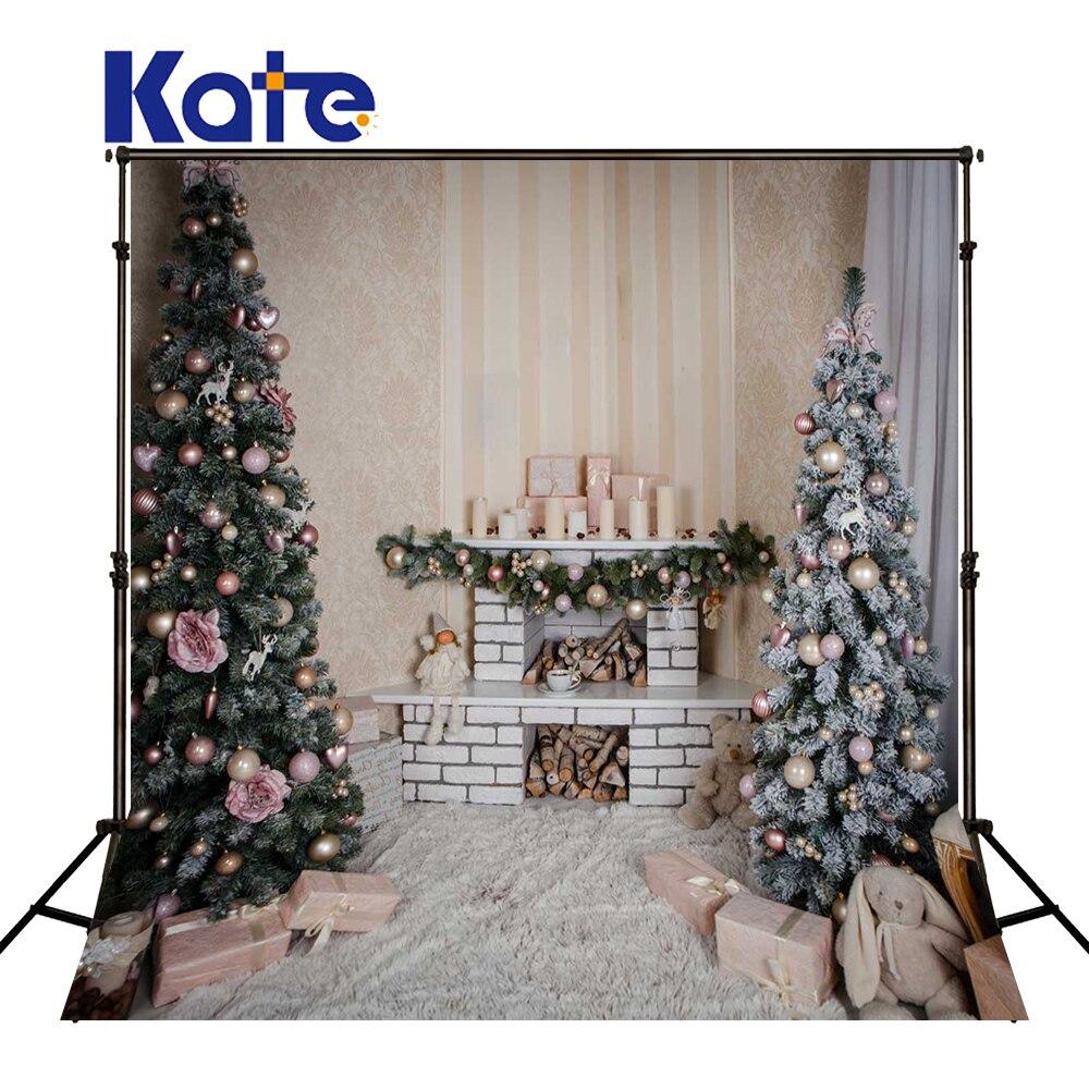 KATE 5x7ft toile de fond de noël famille décors arbre de noël fond de couverture blanche enfants toile de fond pour Studio