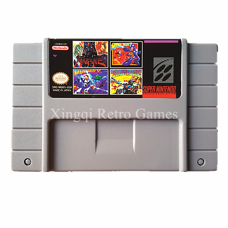 Super Nintendo SFC SNES MS05 4 in 1 Video Game Cartridge Console Card US Version English