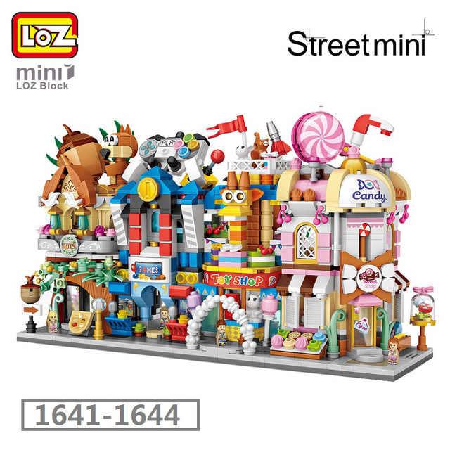 Mini klocki Loz widokiem na miasto nakrętka sklep sklep z zabawkami gry hall sklepy ze słodyczami modele klocków boże narodzenie zabawki dla dzieci