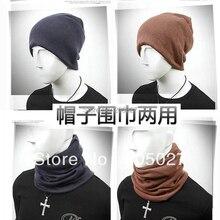 Осень зима новая мода menSkullies & Шапочки шляпы шарф двойного назначения глушитель шарф шляпы для любителей дизайна x8