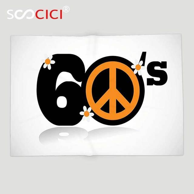 Custom Soft fleece Mantas manta 1960 s Decoración colección sesenta ...