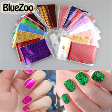 BlueZoo New Arrival 50pcs Mix Designs Symphony Nail Sticker Nail Transfer Foil Paper For DIY Nail Decals Decoration