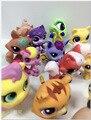 10 pcs anime pouco pet shop q pet cute cat dog animais enfeites de boneca brinquedos infantis menina menino 4-6 cm pvc