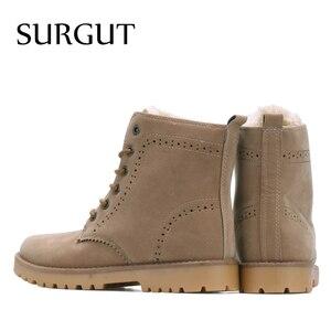 Image 2 - SURGUT Brand 2021 Fashion Winter Shoes For Men Suede pu Leather Snow Men Boots High Quality Comfy Casual Shoes Men Size 35 44