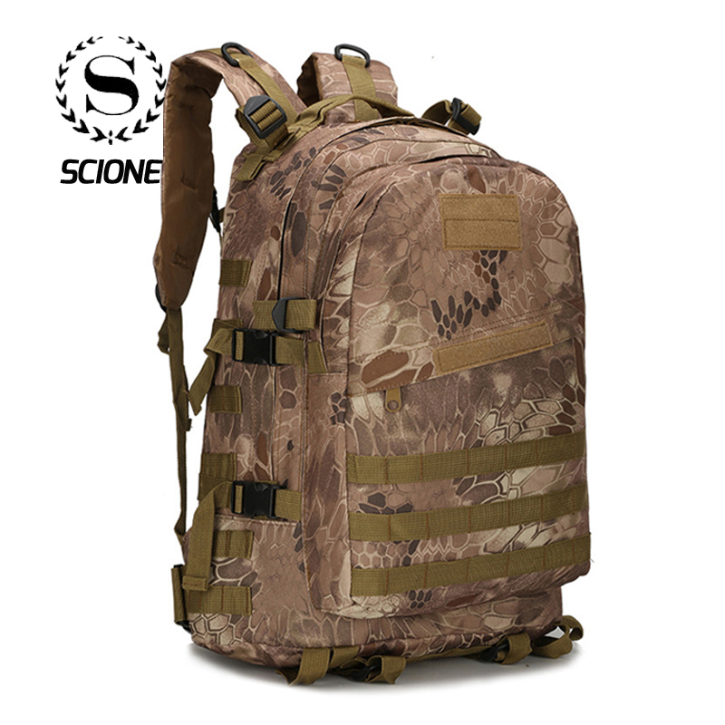 1000D Nylon 40L Backpack For Men Women Teenager College Laptop Bags Schoolbag Camouflage Army Travel Casual Mochila JY-103 image