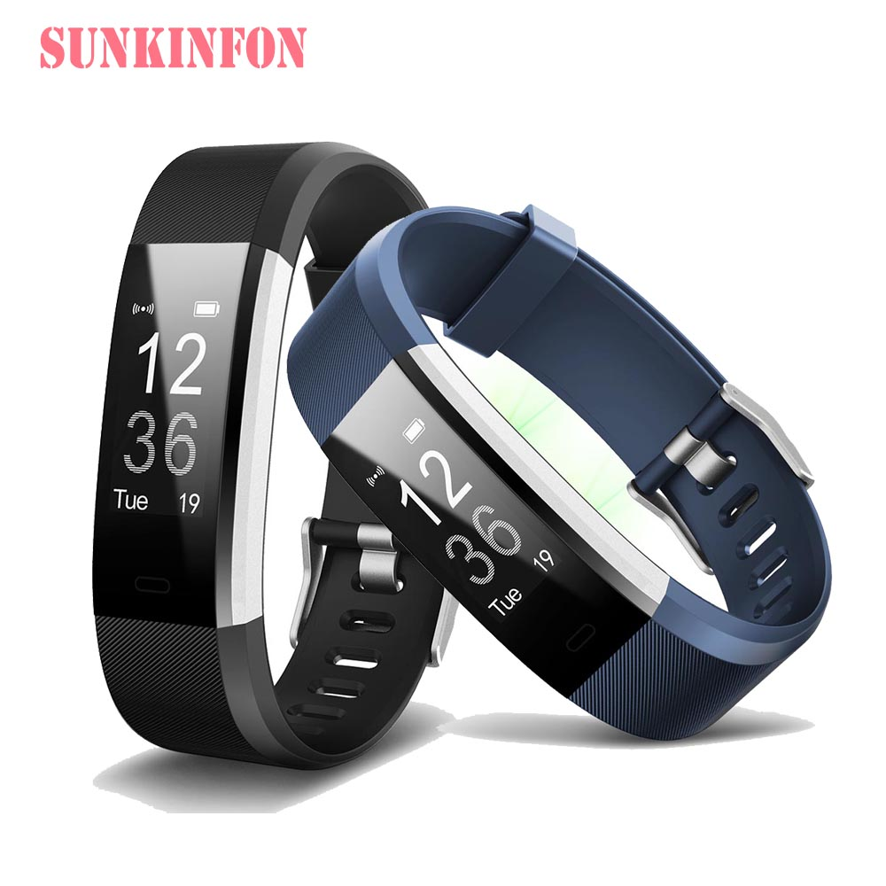 ID144 Bluetooth Smart Wristband Bracelet Fitness Sleep Tracker Pedometer Heart Rate Monitor for Huawei Ascend P9 Plus P8 Lite P8 edwo df23 smartband heart rate monitor waterproof swimming smart wristband health bracelet fitness sleep tracker for ios android
