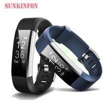 ID144 Bluetooth Good Wristband Bracelet Health Sleep Tracker Pedometer Coronary heart Fee Monitor for Huawei Ascend P9 Plus P8 Lite P8