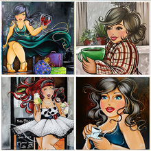 5D Diamond Painting Sexy Woman Round Drill Embroidery 3D DIY Home Decoration Mosaic Crystal Cross Stitch Handmade Gifts