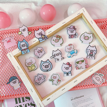 1 PCS Cartoon cute Pink pig Icons Acrylic Badges for Backpack Clothes Plastic Badge Kawaii Pin brooch