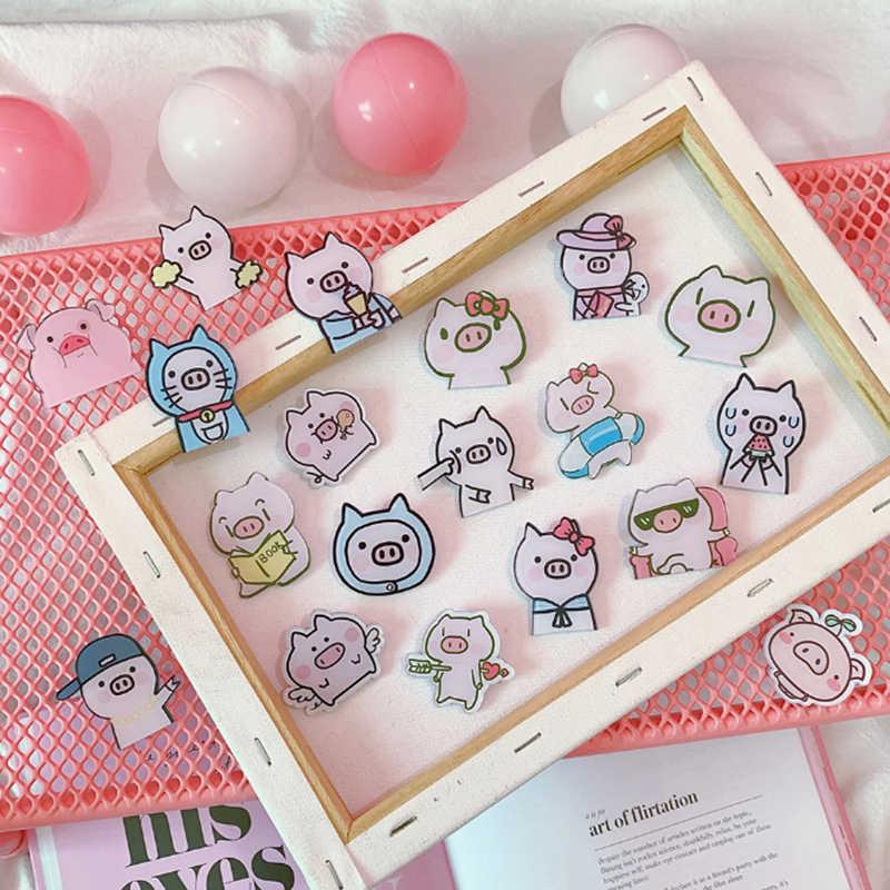 1 Pcs Kartun Lucu Merah Muda Ikon Babi Akrilik Lencana untuk Ransel Lencana Pakaian Plastik Lencana Kawaii Pin Bros Lencana