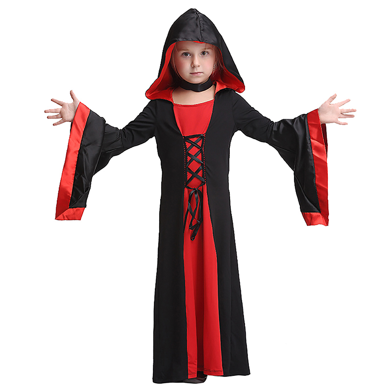 Vampire Cosplay Set Children Halloween Costume for Kids Cosplay Witch Clothes Suit  Carnival Party Performance Anime Costume