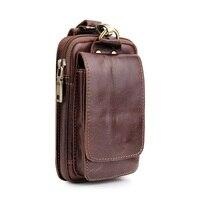 Genuine Leather Vertical Belt Holster Phone Case For iPhone X XS MAX XR 8 7 Plus 6 6S Plus Luxury Shoulder Strap Wallet Bag Case