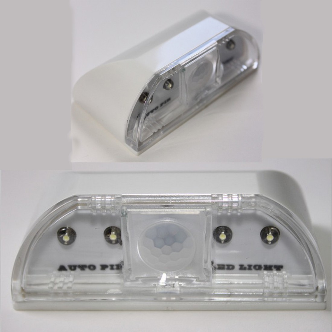 Lamp Night Light Intelligent Auto PIR Door Lock Induction Lamp Door Keyhole IR Motion Sensor Heat Detector 4 LED Smart Light