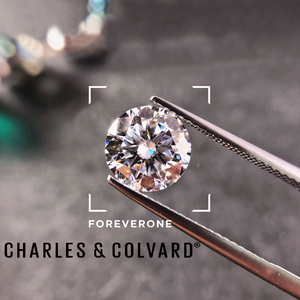 Image 2 - Certified Charles Colvard Forever One Round Brilliant Moissanite Loose Diamond Stones 5mm 0.41CT DEF Color VVS VS Test Positive