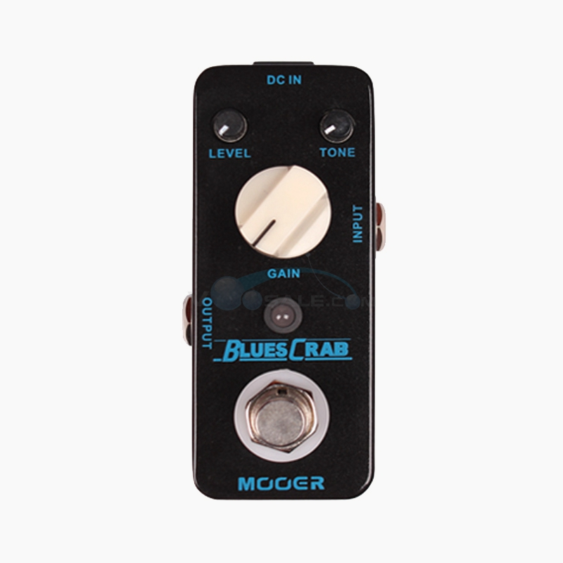 Mooer Blues Crab  Overdrive Guitar Effect Pedal Sound Characteristic with True Bypass Full Metal Shell mooer ensemble queen bass chorus effects effect pedal true bypass rate knob high quality components depth knob rich sound