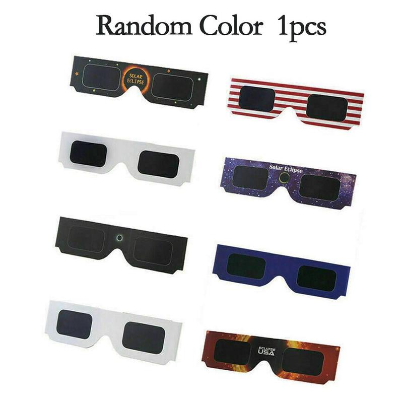 White Framed Paper Solar Eclipse Glasses Annular Eclipse Glasses Total Solar Eclipse Glasses