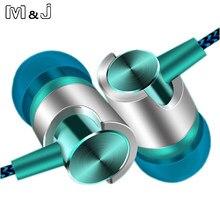 M & j j7 3.5mm portátil fone de ouvido estéreo baixo fones de ouvido corda fio handfree com microfone fone para iphone xiaomi huawei samsung