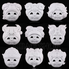 10pcs/lot 12 constellation  Paper Pulp Mask/Blank DIY Mask with Elastic Band  Free Shopping