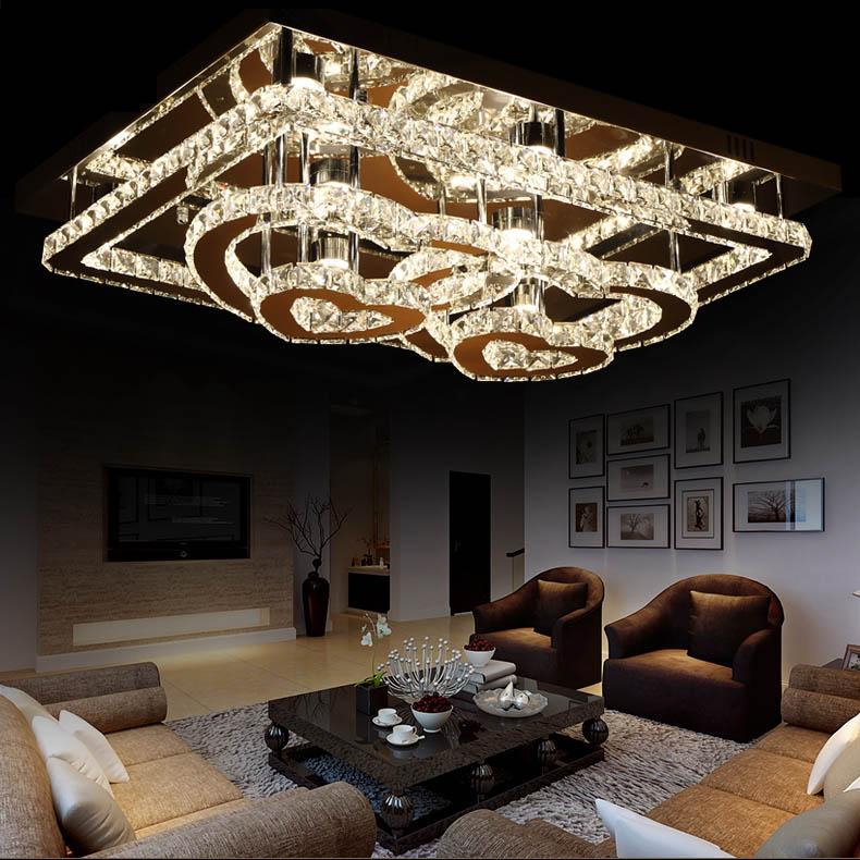 Светодиодный потолочный светильник с романтическим дизайном сердца K9, 110 220 В, для гостиной, спальни, размер: 80*60 см, бесплатная доставка, пото...