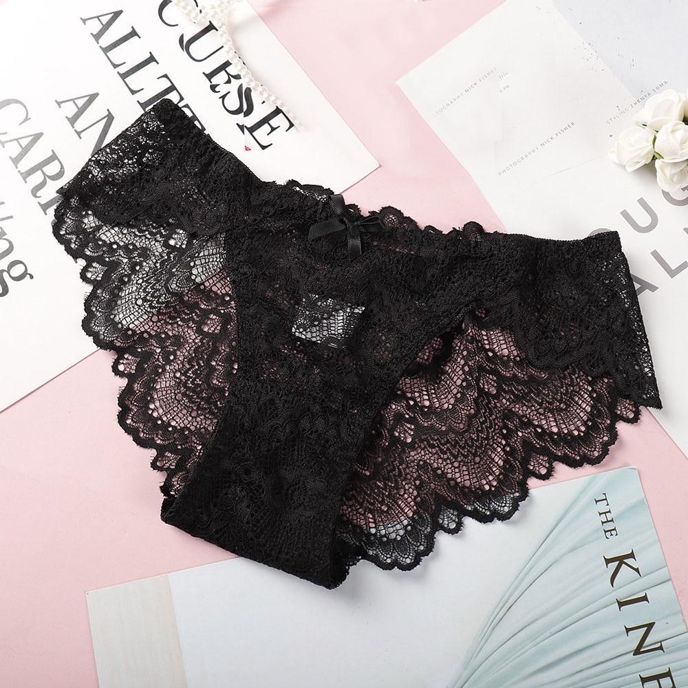 Women's Lace Lingerie Knickers G-string Thongs Panties Underwear Briefs Women's Panties Thongs sexy female underwear %7