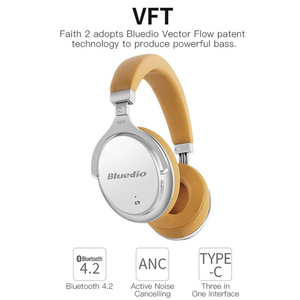 Image 3 - Bluedio F2 Wireless Bluetooth Headphones Active Noise Cancelling Bass Stereo Hifi Music koptelefoon mic Call Headset auriculares