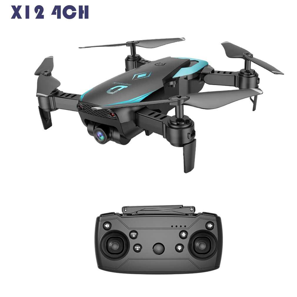 X12 4CH FPV RC Dron HD Camera RC Quadcopter Wide Angle Wifi Altitude Hold One Key Return Headless Mode 3D Flip Foldable VS X5C Квадрокоптер