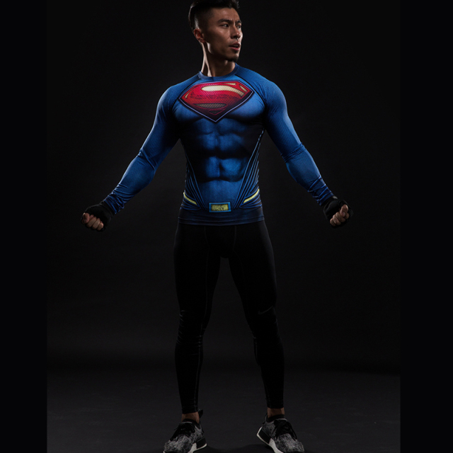 Compression ShirtSuperman 3D Printed