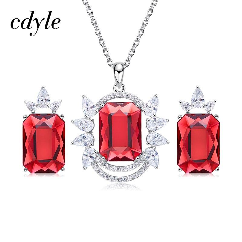 Cdyle orné de cristaux collier boucles d'oreilles ensemble pour les femmes nuptiales bijoux ensembles argent 925 fête des mères cadeau