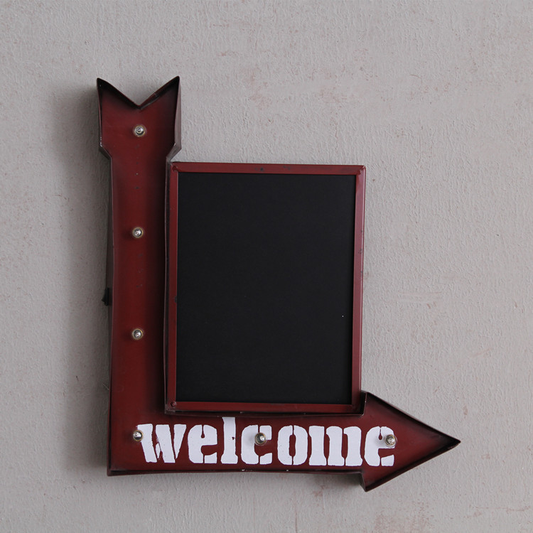 loft American retro wrought iron wall decorations LED lights wall coffee shop bar home personalized decorations metal paint
