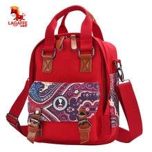 Женские рюкзаки в горошек холст рюкзаки Шнуровка с бантиком строка школьные сумки для девочек-подростков школьный Bolsas Mochilas Femininas