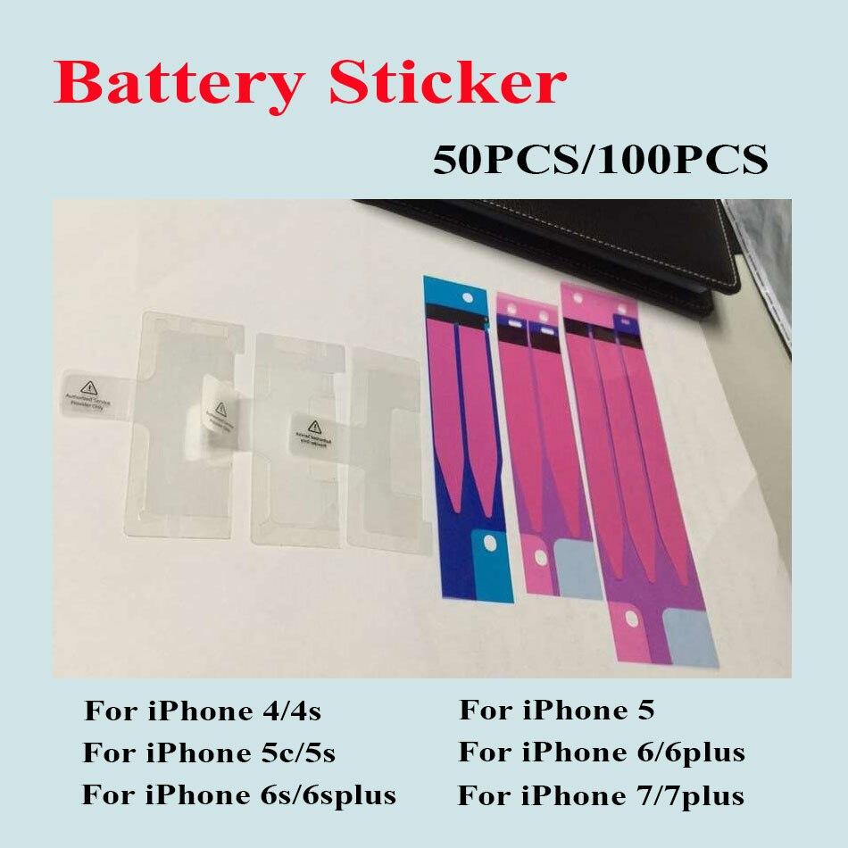 50PCS/lot&#038;100PCS/lot Sticker for iPhone 7 7 Plus 6 6 Plus 6S 6S Plus 5 5C 5S 4 4S <font><b>Battery</b></font> Sticker Adhesive <font><b>Pull</b></font> Strip <font><b>Tab</b></font> Glue