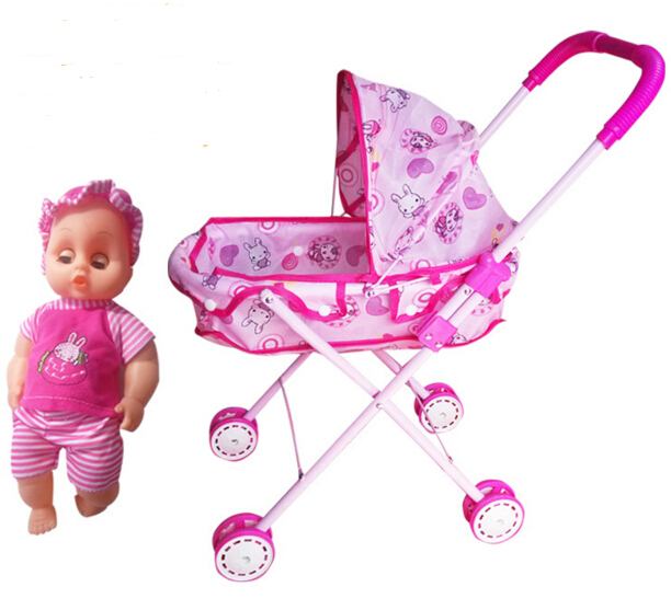 Baby Stroller Mother & Kids Fashion Style Baby Doll Stroller Toy Doll Trolley Toy Simulated Stroller For Indoor Outdoor Use For Over 3 Year Old At Any Cost
