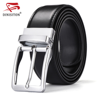 DINISITON Special Military Belts For Male High Quality Genuine Leather Pin Buckle Luxury Business Belts Brand