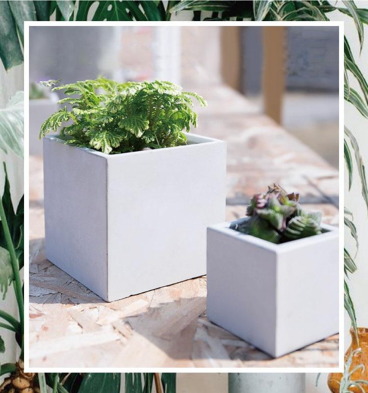 geometry Silicone mold flower pots cube vases mould 3d moulds pot cube Cement molds silica gel