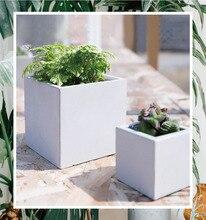 Geometrie silikonform blumentöpfe cube vasen form 3d formen topf cube zementformen silikagel formen betonformen