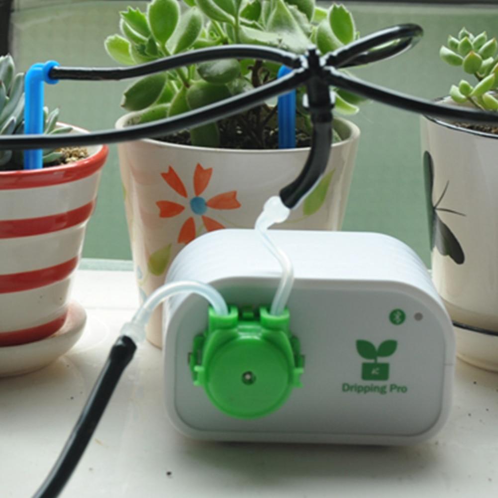 Indoor Smart Flowers System DIY Bonsai Timing Self Watering USB Mini Pot Plants Phone Control Automatic