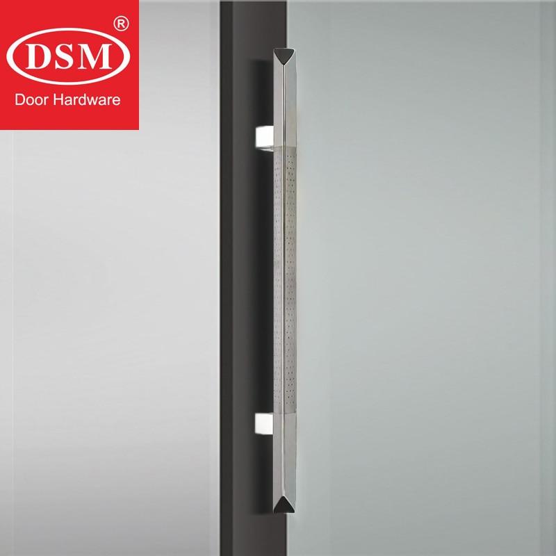 5 Lengths White Stainless Steel Square Tube Handle Modern Hotel Office Glass Door Push-Pull Handle Sliding Barn Door Handle Size : 1000/×600mm