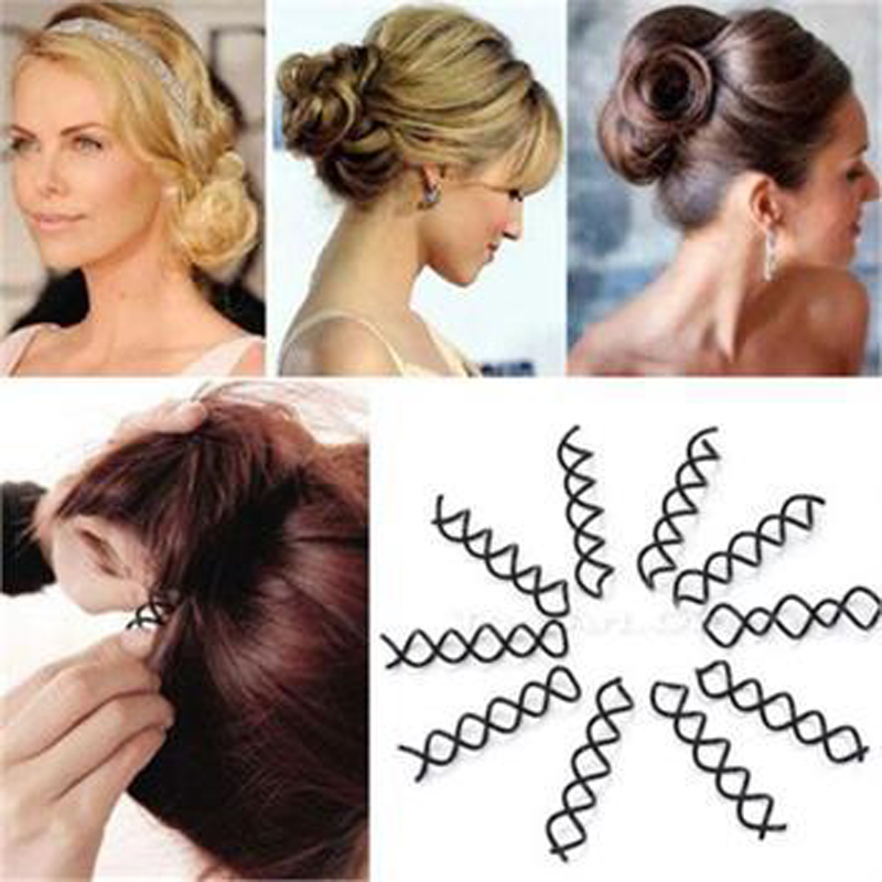 10PcsTwist Hair Clips Black Hairpins A s