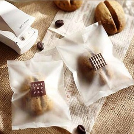 Wholesale Half Clear Hot Seal Plastic Cookie Pack Gift