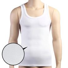 Mens Sleeveless กล้ามเนื้อ TOP เสื้อกั๊ก Shaping Corset แน่น Slimming Body Shapewear Tummy Belly Undershirts O Neck Gymclothing