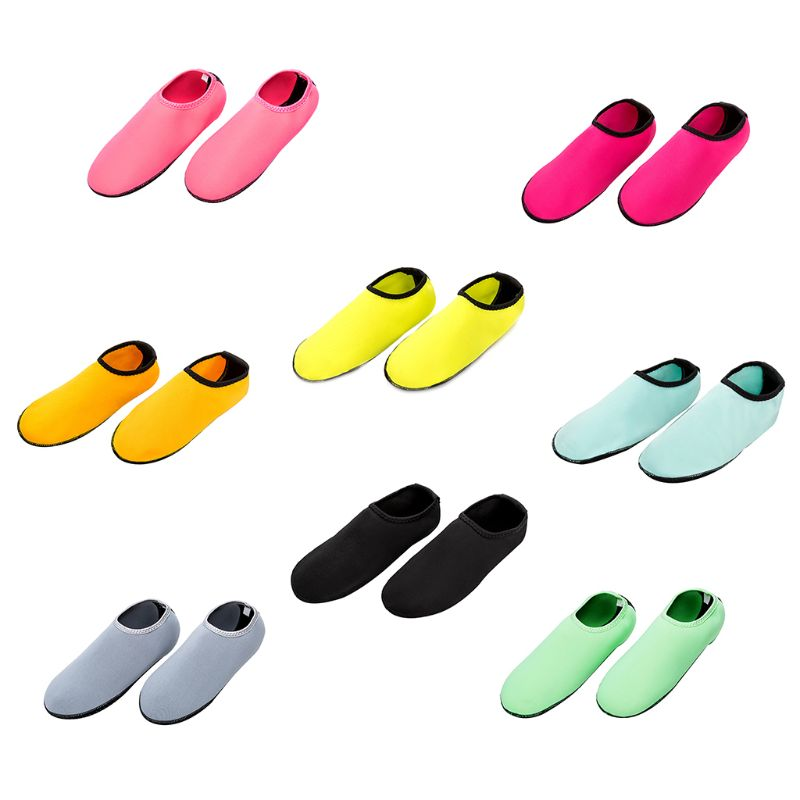 1 Pair Unisex Thin Stretchy Diving Outdoor Sports Shoes Flexible Breathable Anti Slip Socks Surfing Yoga Waterproof Lightweight