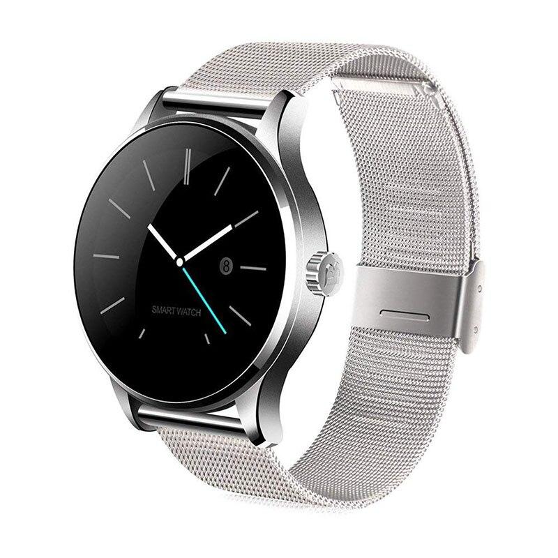 K88H Bluetooth Smart Watch salud clásico Metal Smartwatch Monitor de ritmo cardíaco para Android IOS teléfono cámara remota reloj pulsera