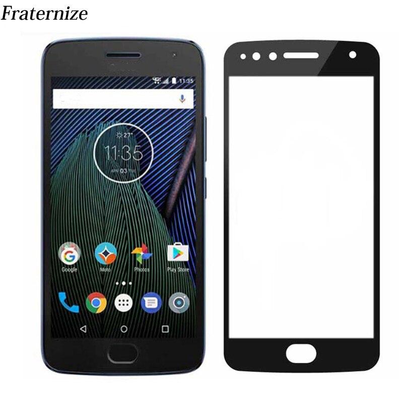 For Motorola Moto G5 Plus Z Z2 Play C E4 Plus Full Cover Screen Protector Tempered Glass Film For Moto G5S Plus Coverage Film