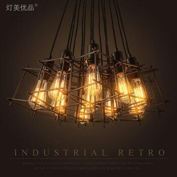 Лофт винтажный промышленный Ретро подвесной светильник Эдисон Свет E27 держатель Железный Ресторан барная стойка чердак книжный магазин кл...