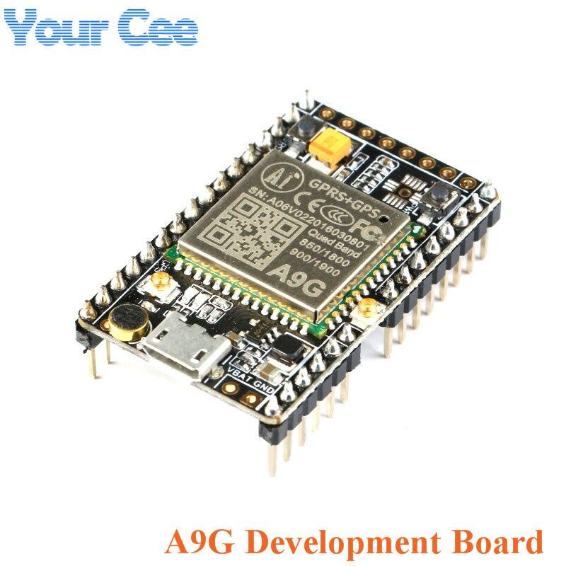 1 PC GPRS GPS Modul A9G Core Board Modul Pudding Entwicklung Bord SMS stimme Drahtlose Daten Übertragung IOT mit Antenne