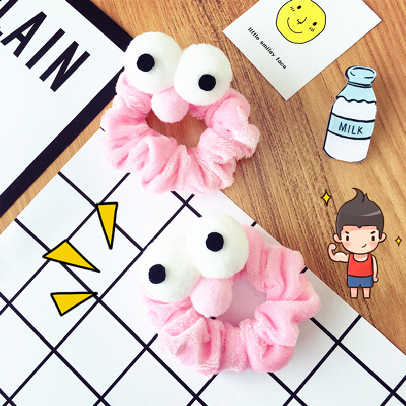 1pcs Fashion Novelty Scrunchie Headband Sesame Street Hair Rope Big Eyes Cartoon HairTie Cute Hairband Hair Accessories Headwear in Hair Accessories from Mother Kids