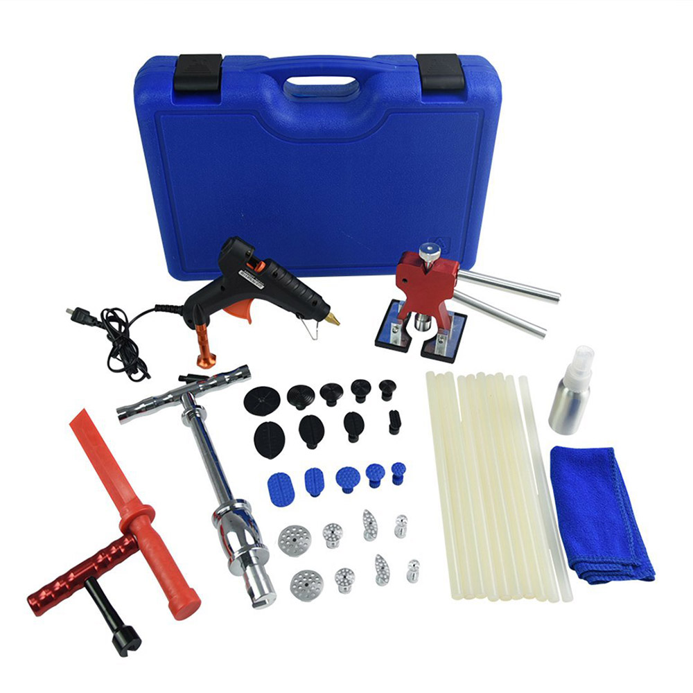 Furuix PDR Tools Dent Removal Paintless Dent Repair Tools Dent Puller Slide Hammer Puller Tabs Suction Cup Tools spot welding sheet metal tools spotter tools with slide hammer 393pieces ss 393